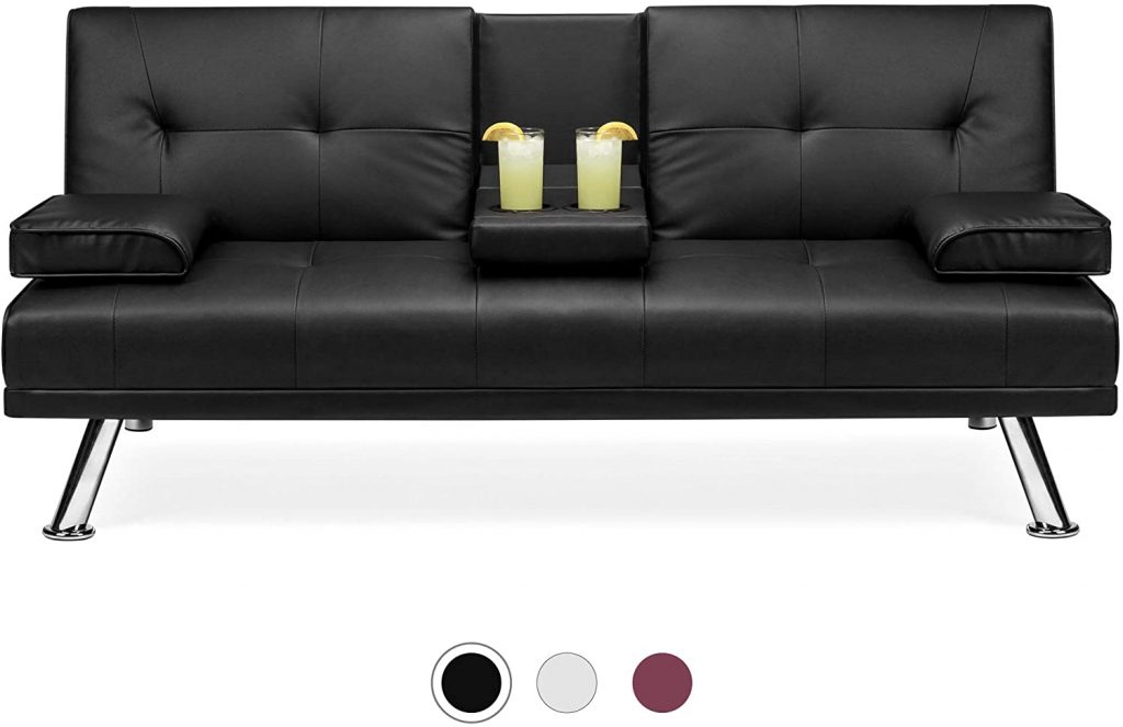 Best Choice Products Faux Leather Upholstered Modern Convertible
