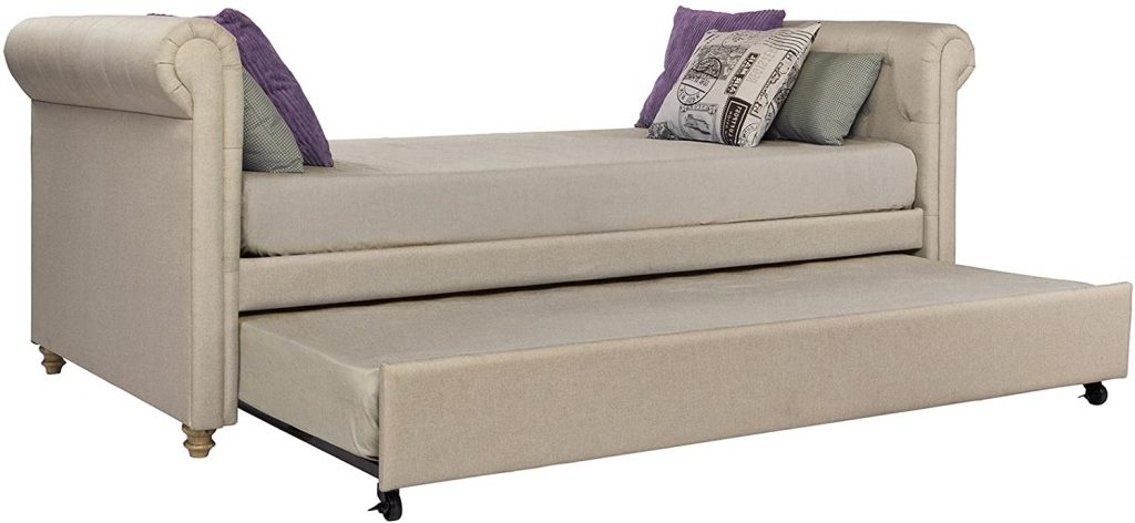 DHP Sophia Upholstered Daybed/Sofa Bed with Trundle