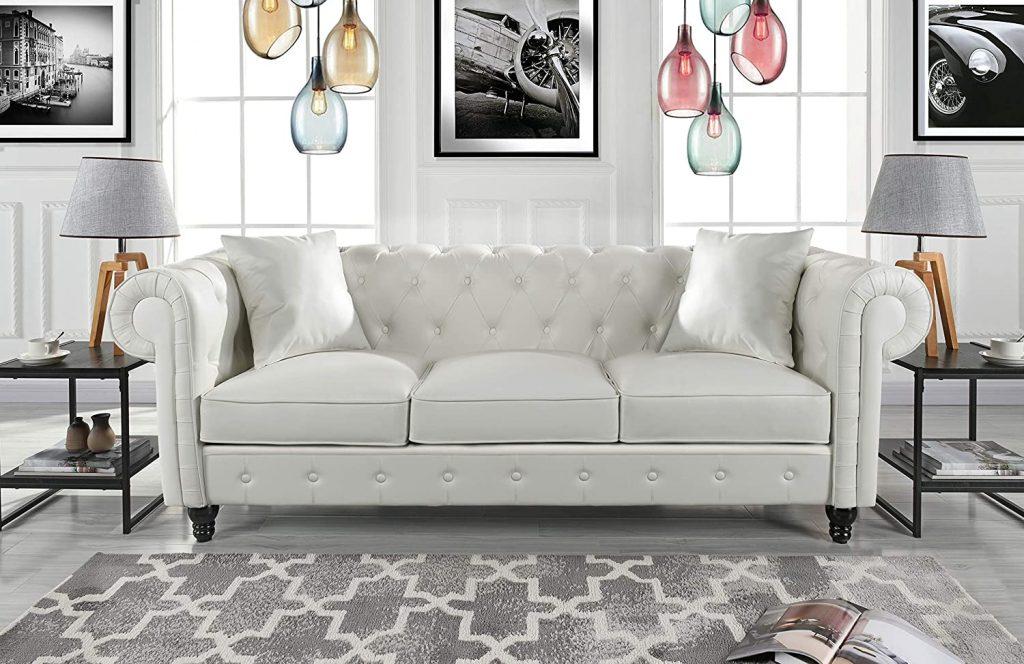 Divano Roma Bonded Leather Sofa