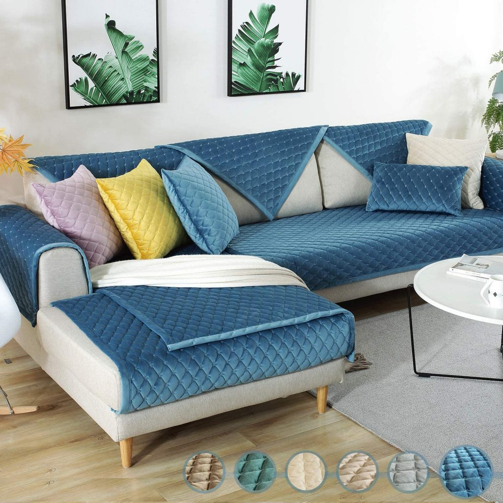 Royhom Sectional Sofa Cover, Sectional Couch Covers
