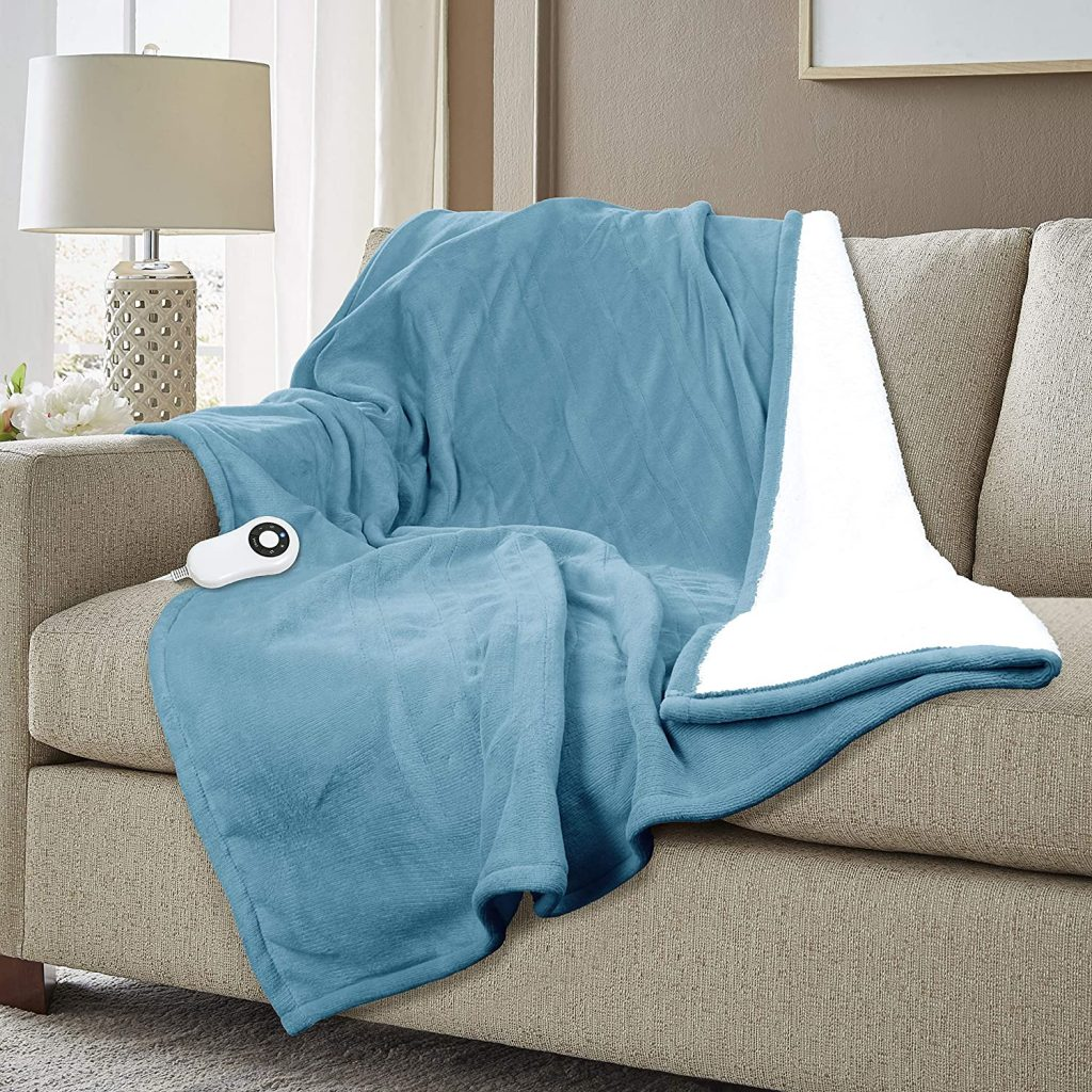 Serta Super Soft Heated Electric Throw Blanket