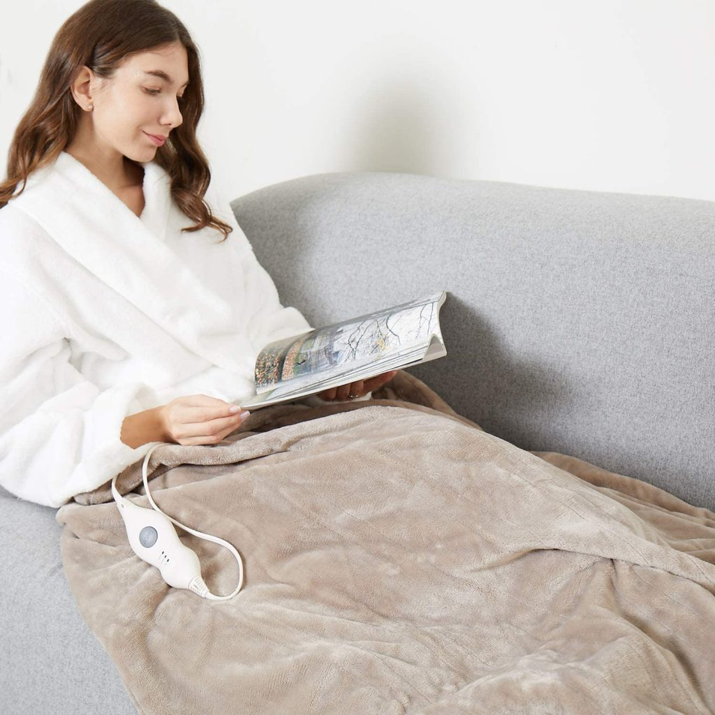 Tefici Electric Heated Blanket Throw