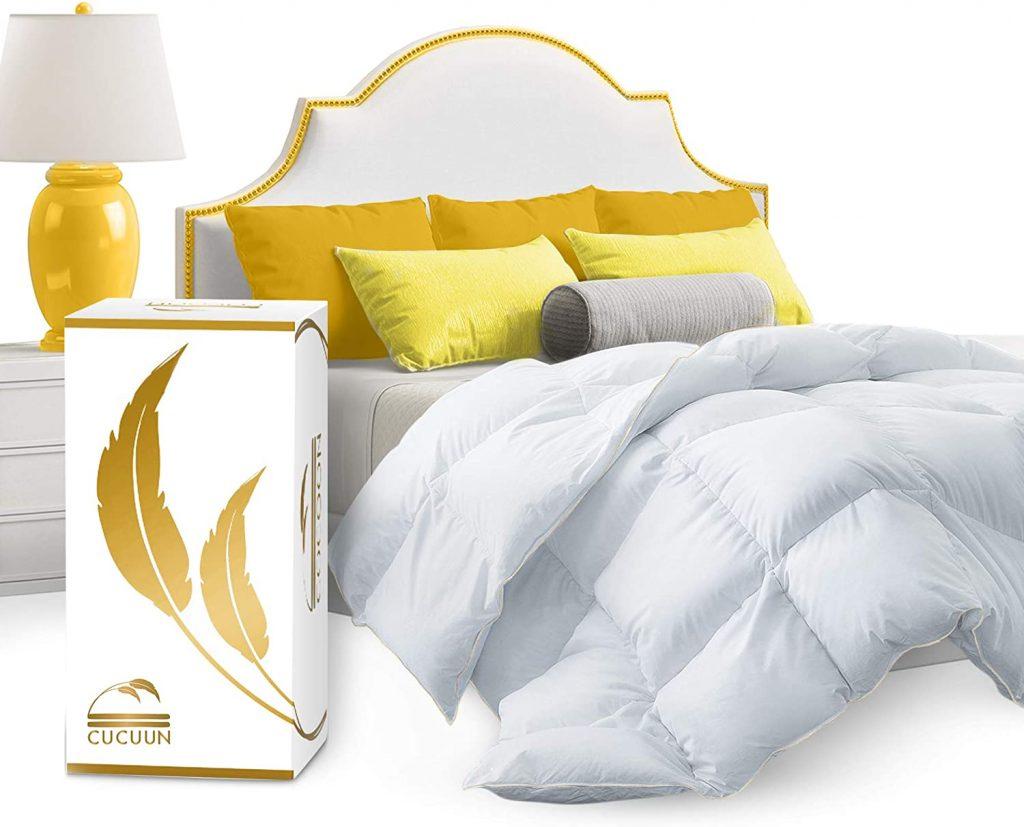 CUCUUN Real Luxury Down Comforter Queen