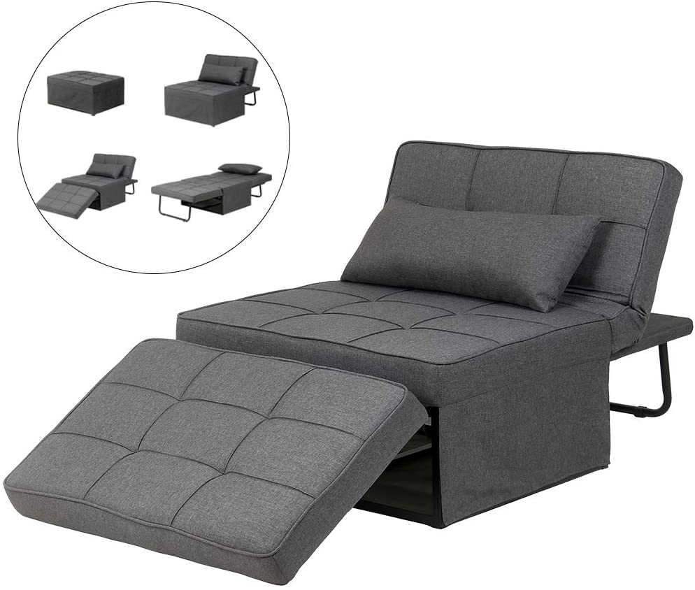 Diophros Folding Ottoman Sleeper Guest Bed