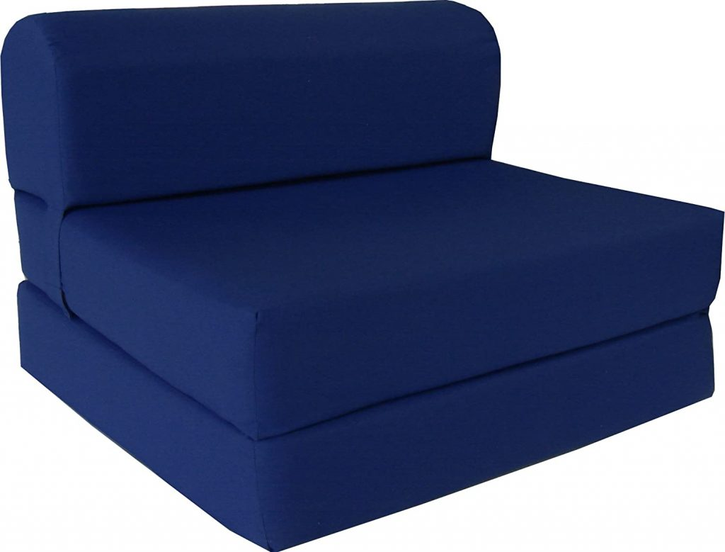D&D Futon Furniture Navy Sleeper Chair