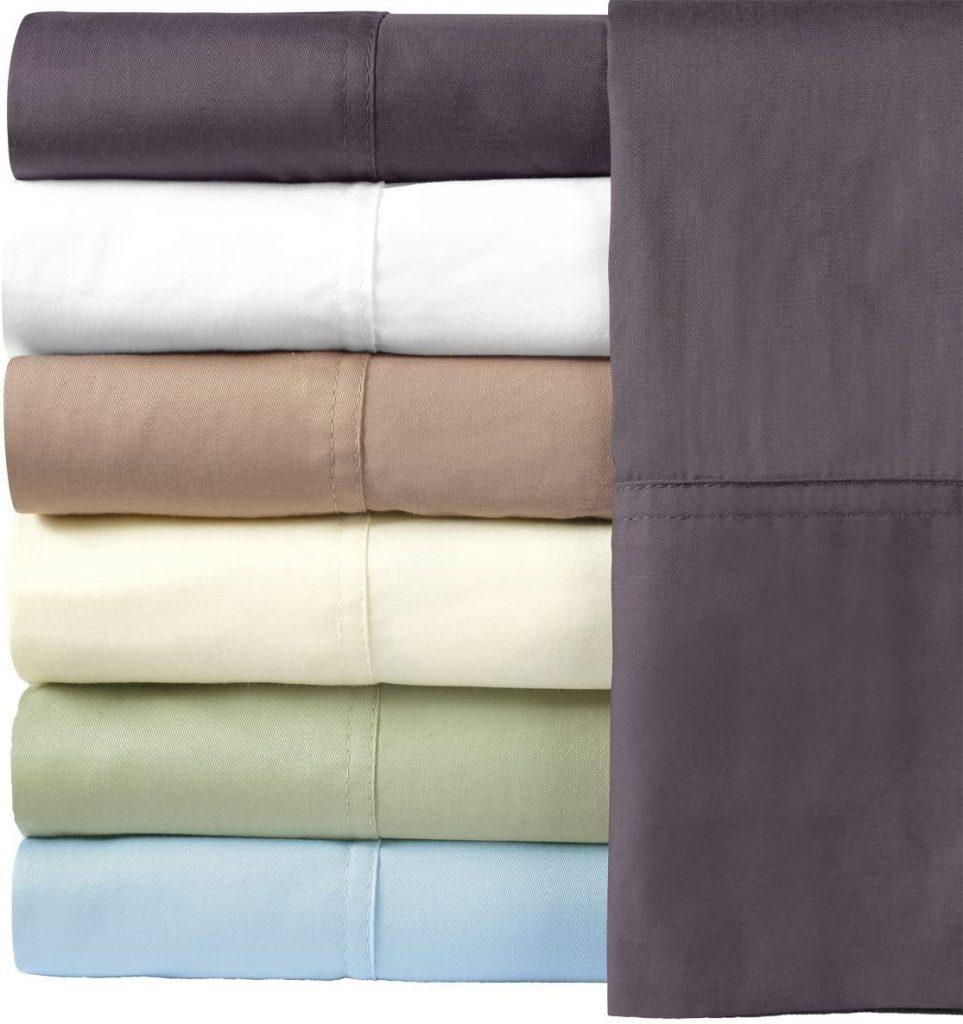 Royal Hotel Silky Soft Bamboo Cotton Sheet Set, 100% Bamboo-Cotton Bed Sheets, King Size, Sage