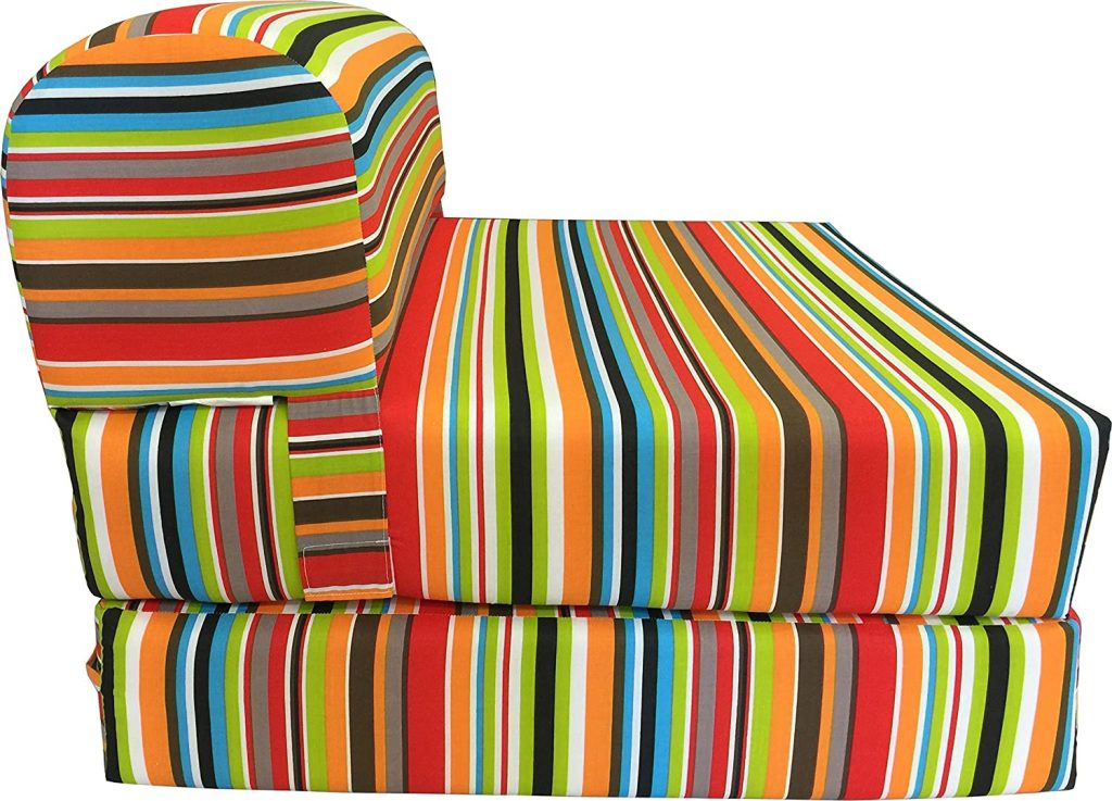 D&D Futon Furniture Multi Colors Stripes Sleeper Chair