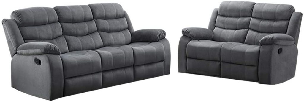 AC Pacific 2-Piece Reclining Living Room Upholstered Sofa
