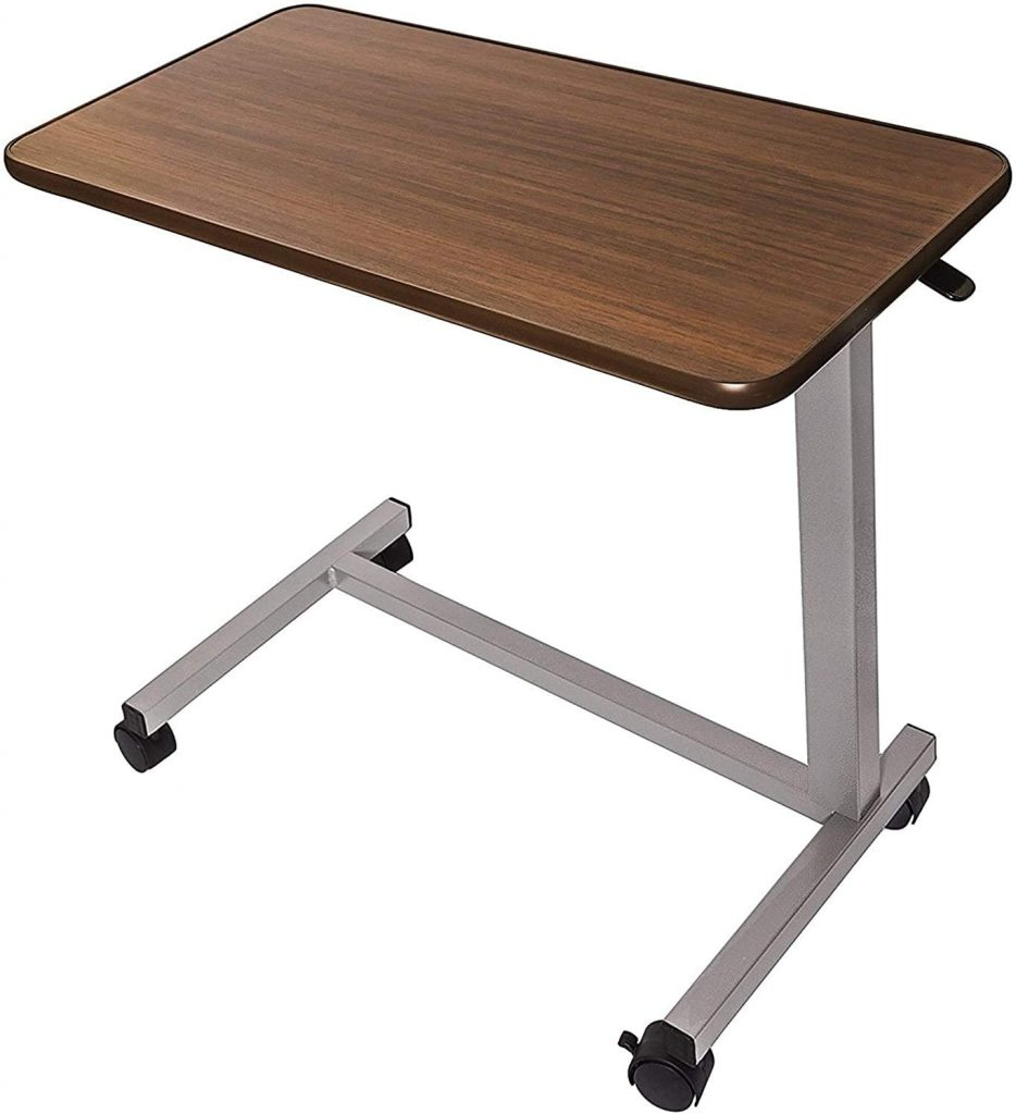 Adjustable Overbed Bedside Table