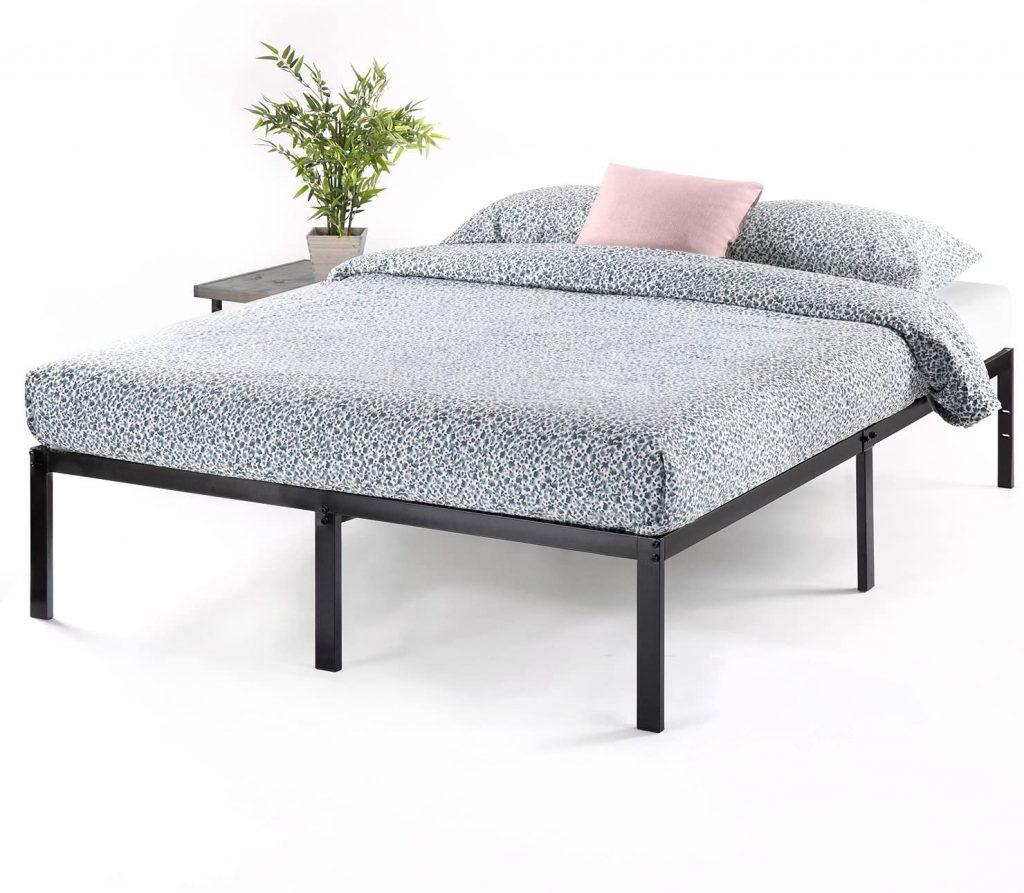 "Best Price Mattress King Bed Frame - 14"" Metal Platform Bed Frame"
