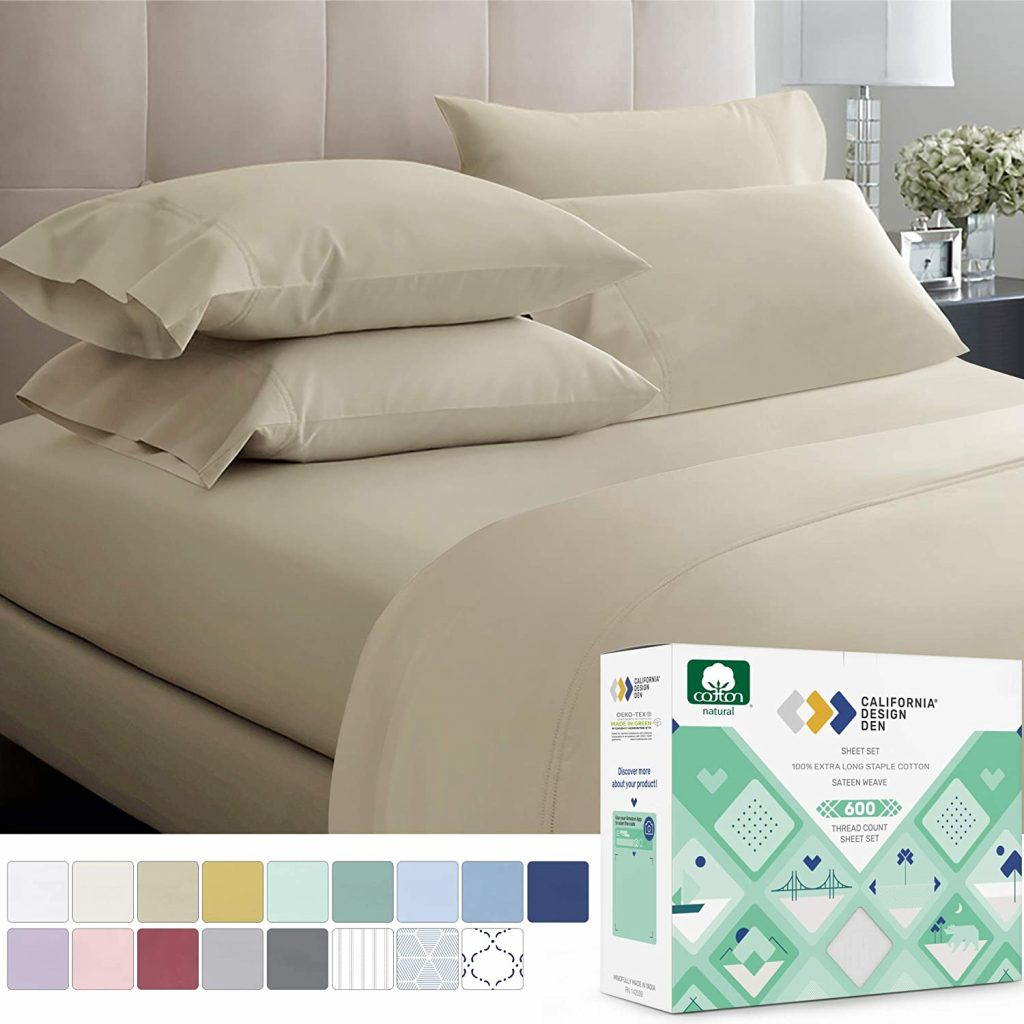California Design 600 Thread Count Bed Sheets