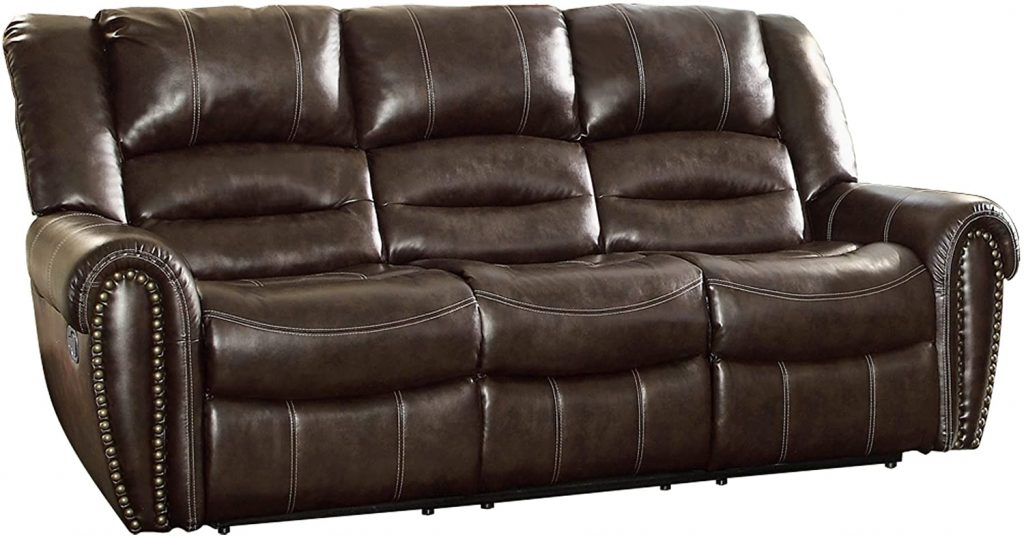 "Homelegance Center Hill 90"" Bonded Leather Double Reclining Sofa"