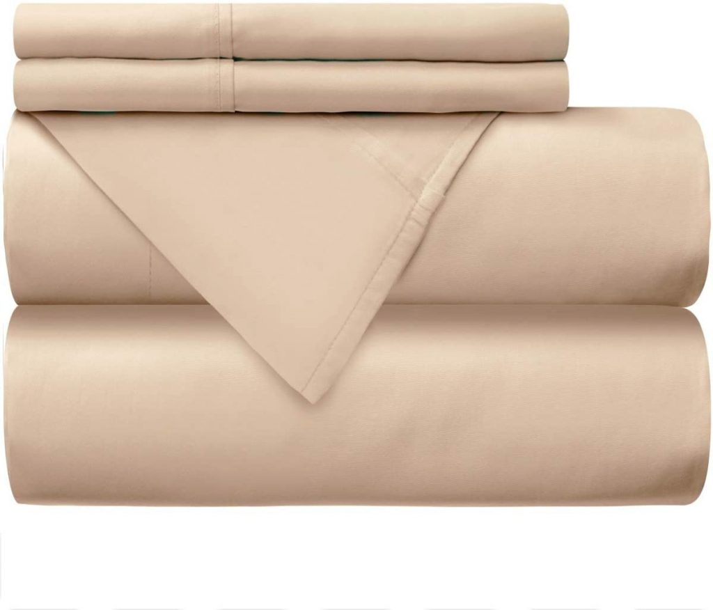Mellanni 100% Cotton Bed Sheet Set - 300 Thread Count Percale