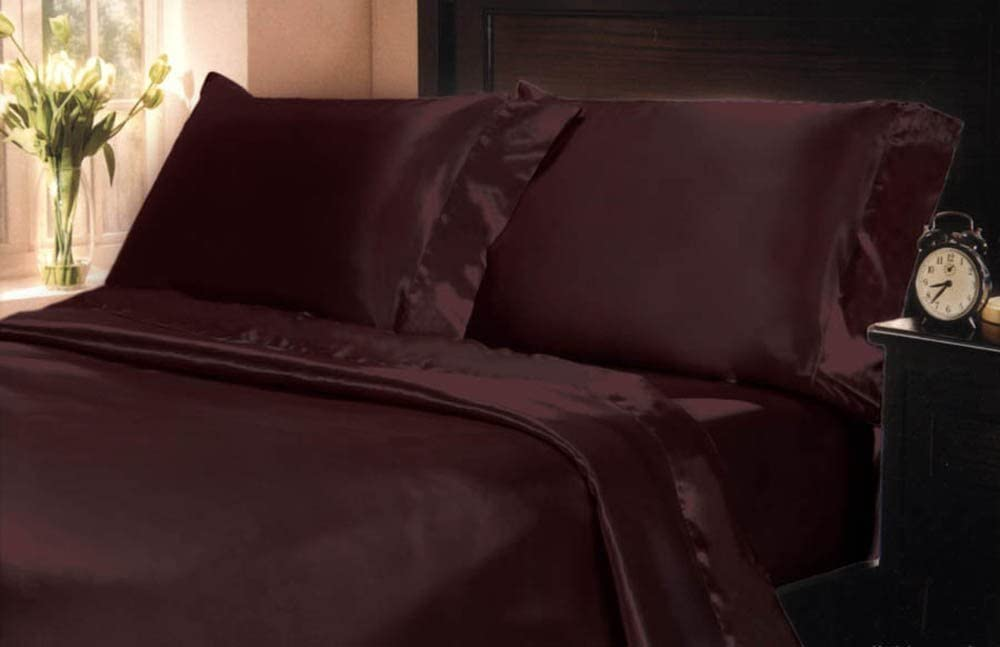 Mk Collection 4pc Soft Silky Satin Solid Color
