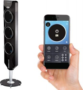 """Ozeri 3X Tower Fan (44"""") with Bluetooth and Passive Noise Reduction Technology"""