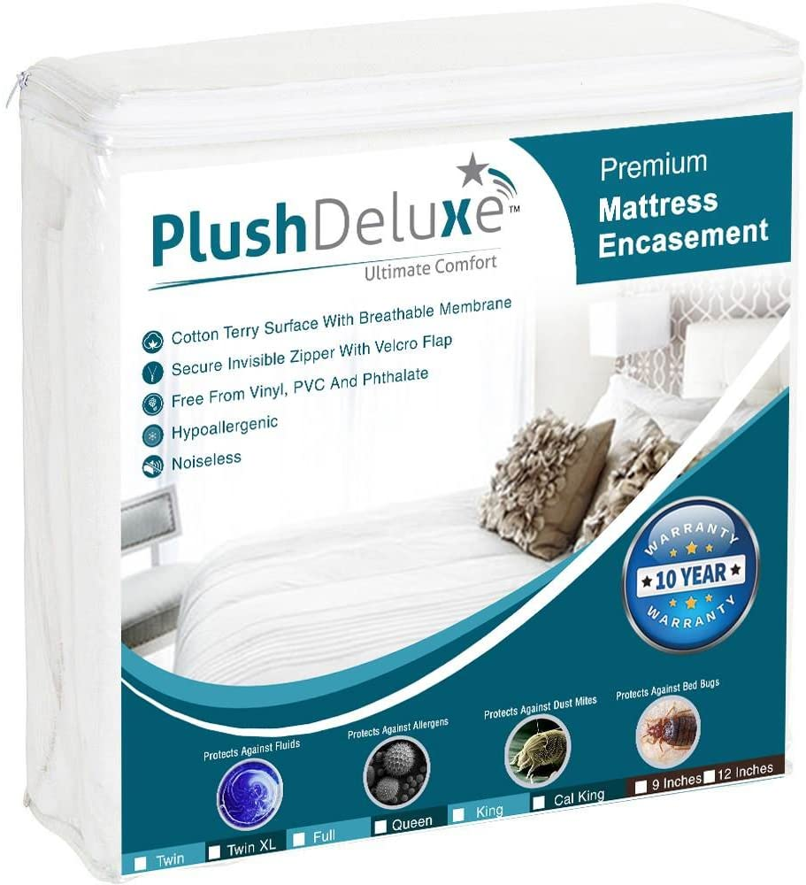 PlushDeluxe Zippered Mattress Encasement