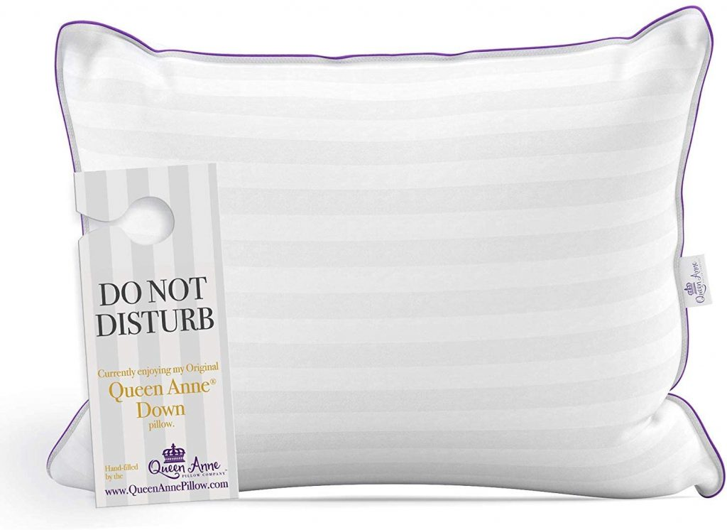 Queen Anne down pillow