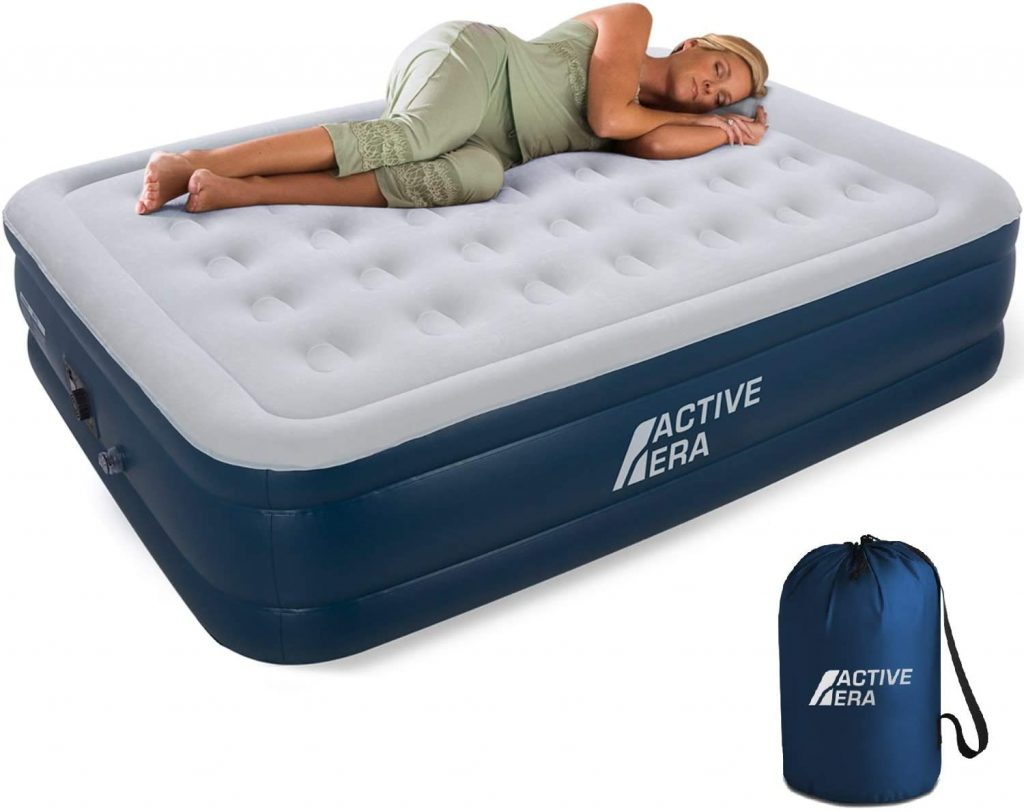 Active Era Air Mattress with Built in Electric Pump & Raised Pillow