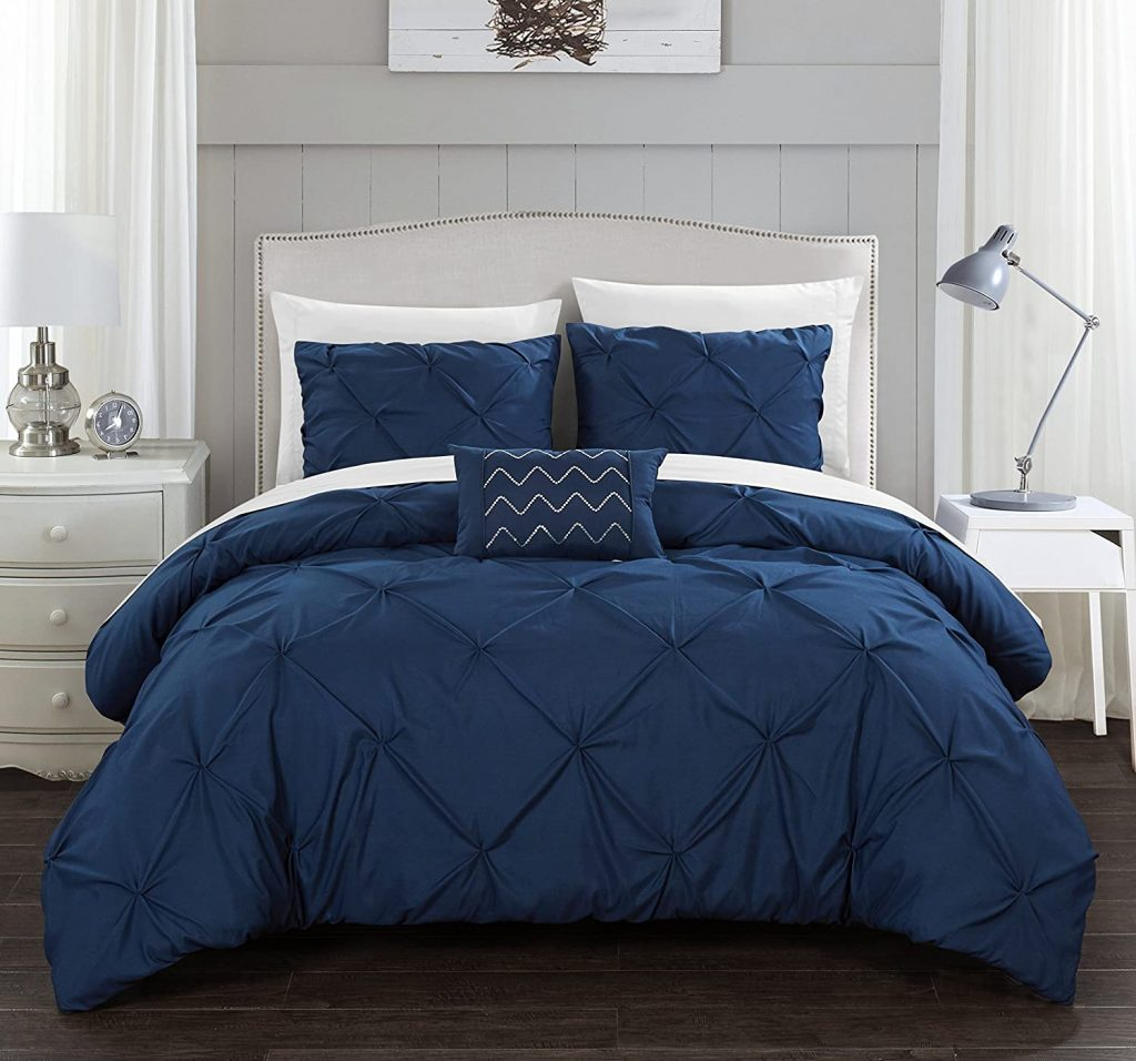Chic Home Hannah Pinch Pleated, ruffled and pleated King Comforter Set