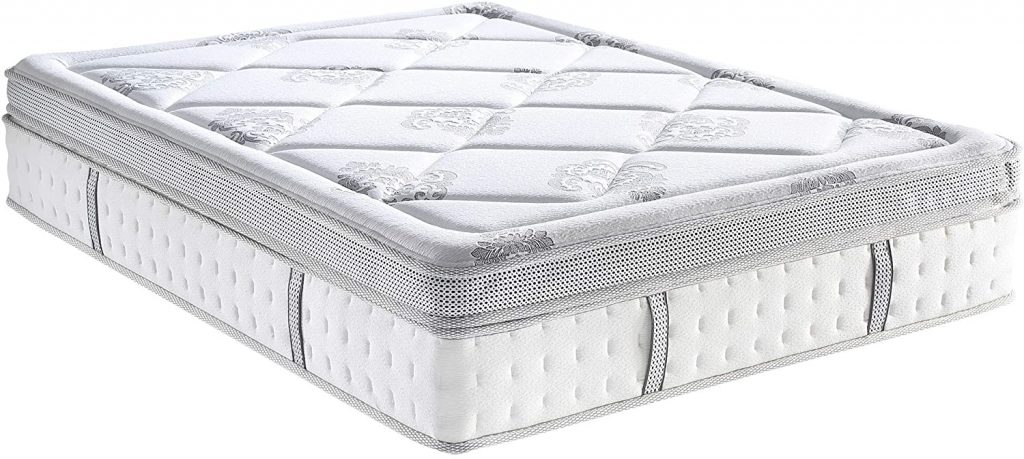 Classic Brands Gramercy Euro-Top Cool Gel Memory Foam and Innerspring Hybrid 14-Inch Mattress, Twin XL, White