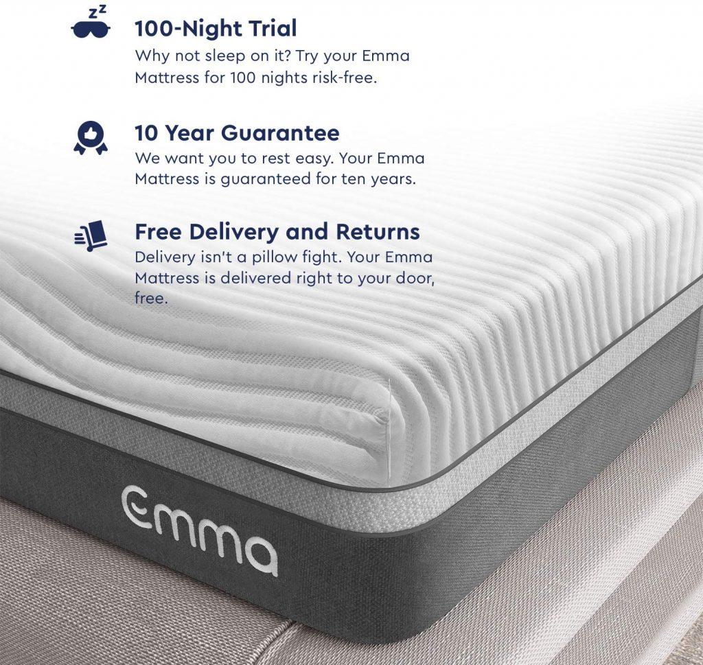 """Emma Queen Mattress   12"""" Memory Foam Mattress"""