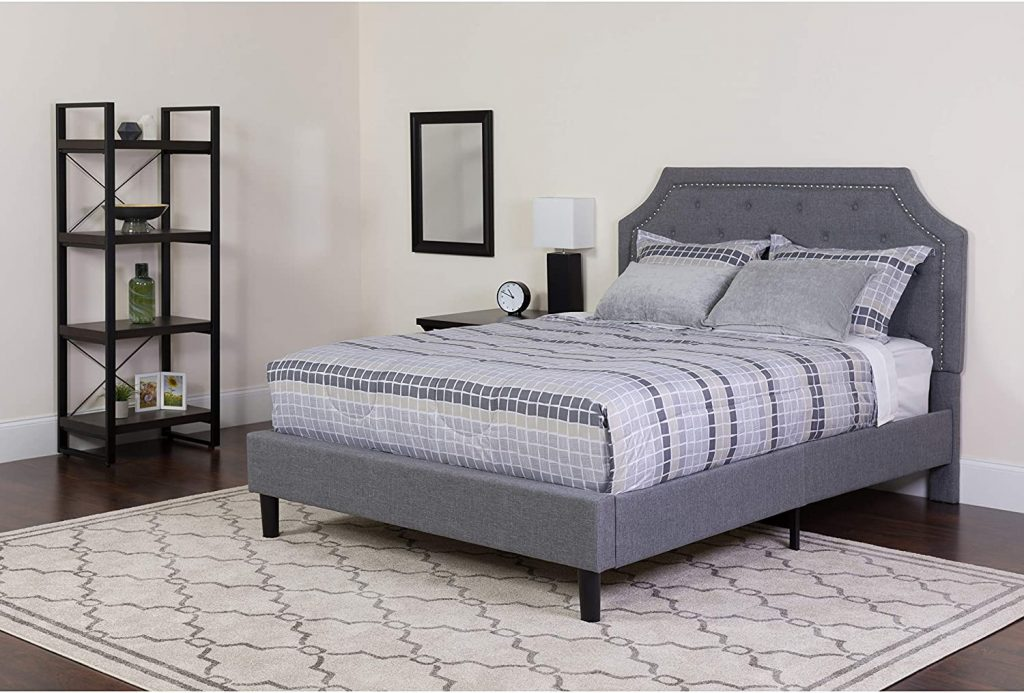 Flash Furniture Brighton Tufted Upholstered King Size Platform Bed
