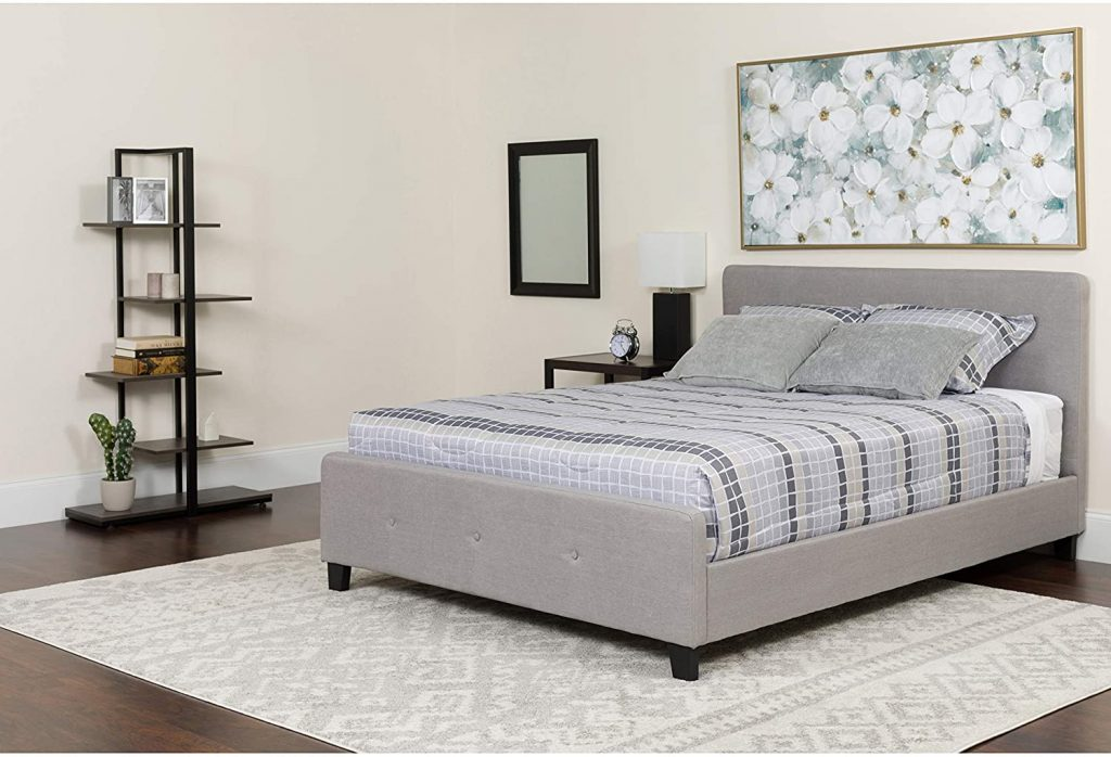 Flash Furniture Tribeca King Size Tufted Upholstered Platform Bed