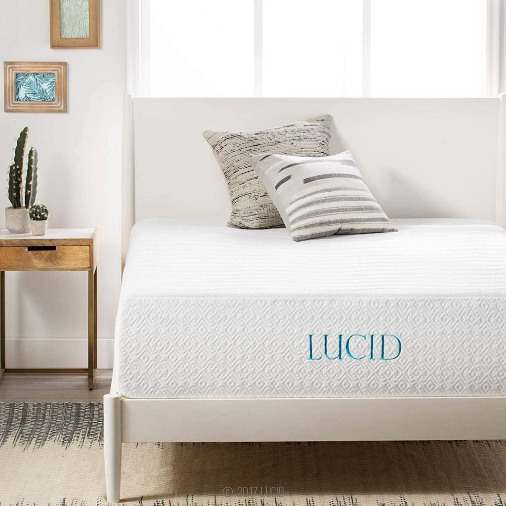 LUCID 14 Inch Memory Foam Bed Mattress Conventional