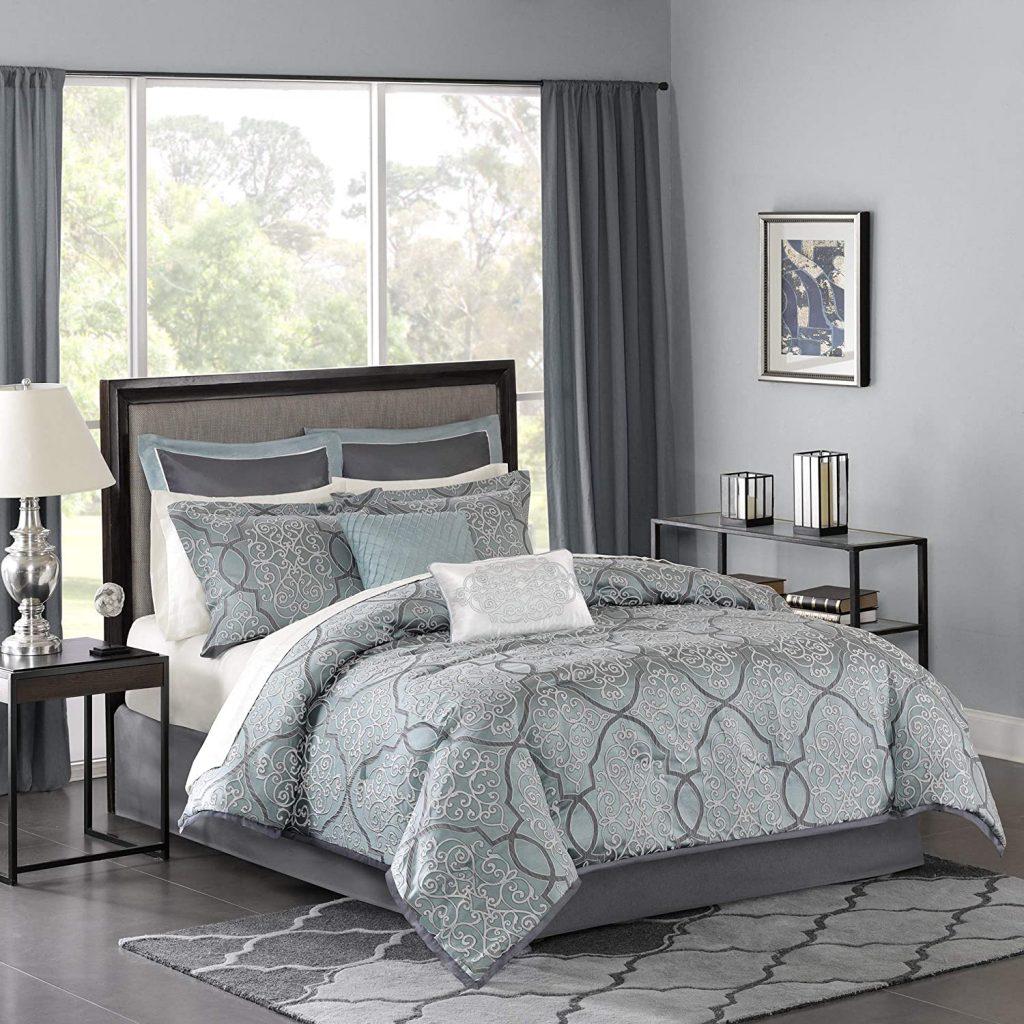 Madison Park LaVine 12 Piece Jacquard Comforter Set