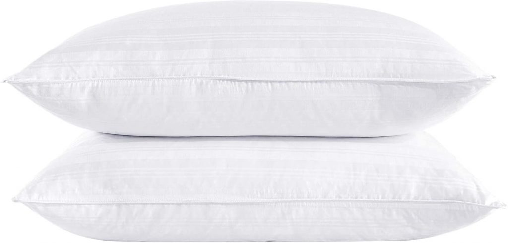 puredown White Goose 2 Outer Protectors, Cotton Fabric Down Down Pillows
