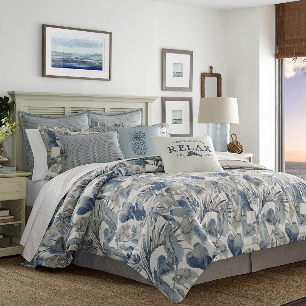 Tommy Bahama 221193 Raw Coast Comforter Set, King, Blue