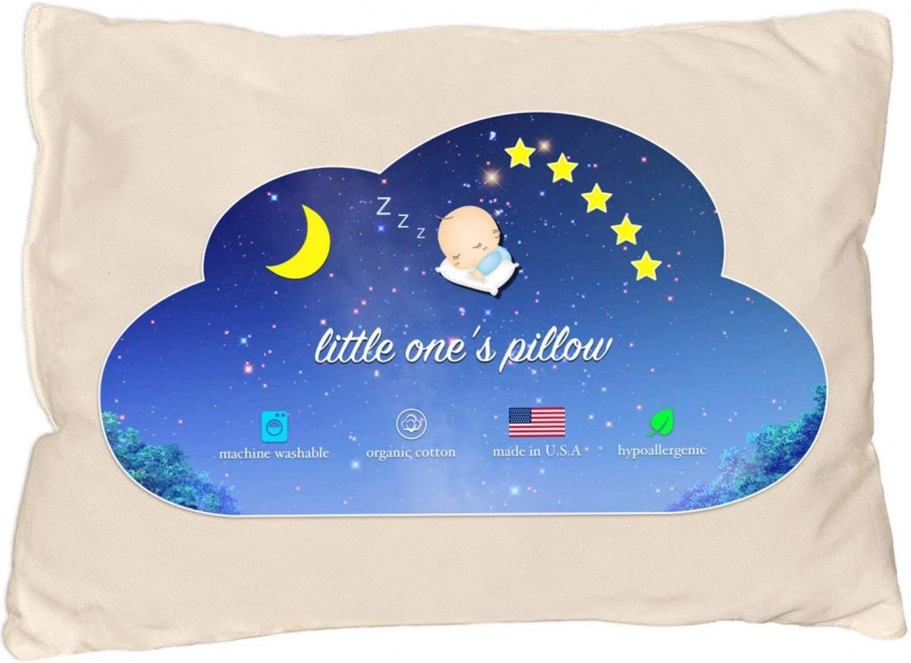 Little One's Pillow - Toddler Pillow, Organic Cotton Shell, HandCrafted in USA