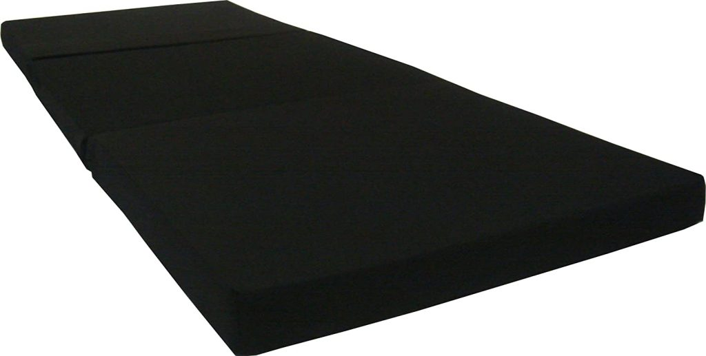 D&D Futon Furniture Black Trifold Foam Beds