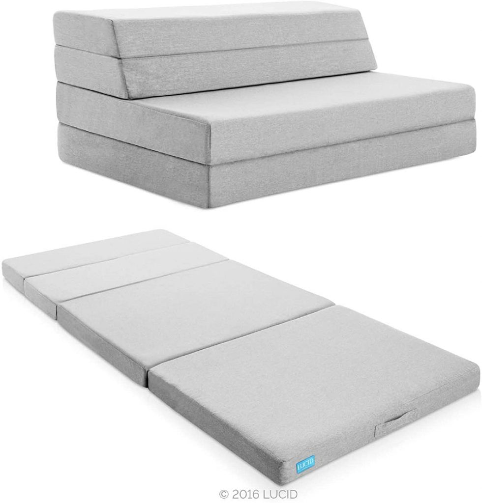 "Lucid LU04FFFSGF2 4"" Folding Mattress & Sofa"