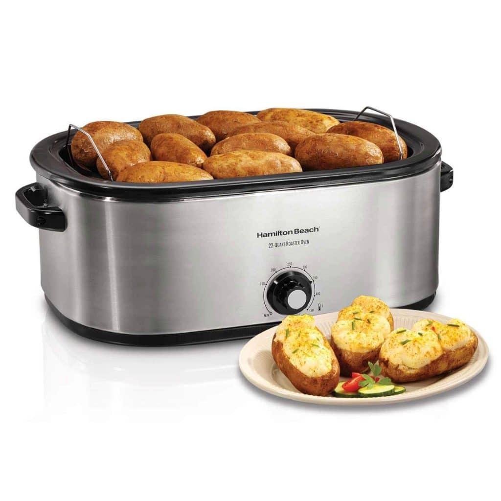 Hamilton Beach 28 lb 22-Quart Roaster Oven with Self-Basting Lid