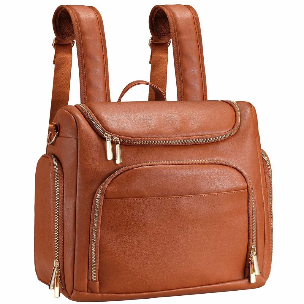 Diaper Bag Backpack Beaulyn Leather