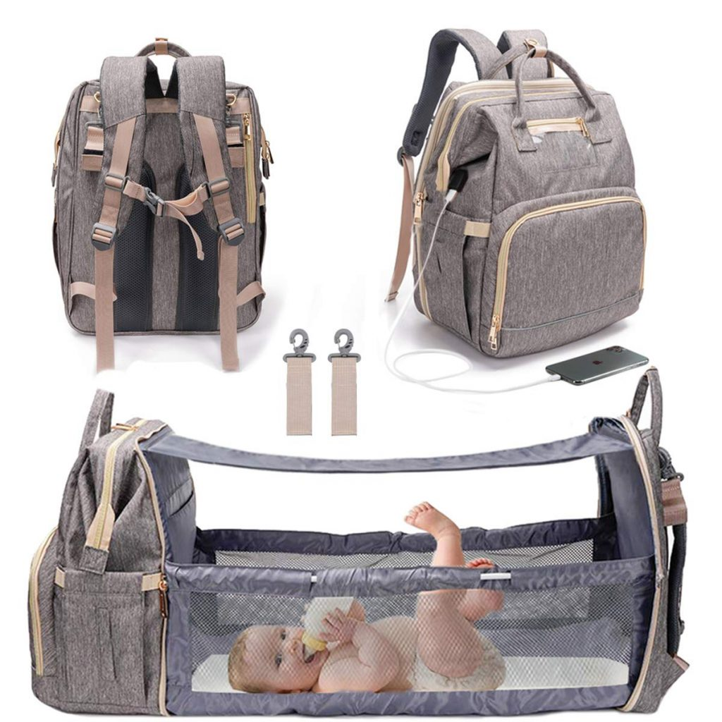 Diaper Bag Backpack with Changing Station