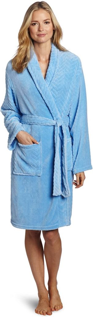 Seven Apparel Herringbone Textured Plush Robe