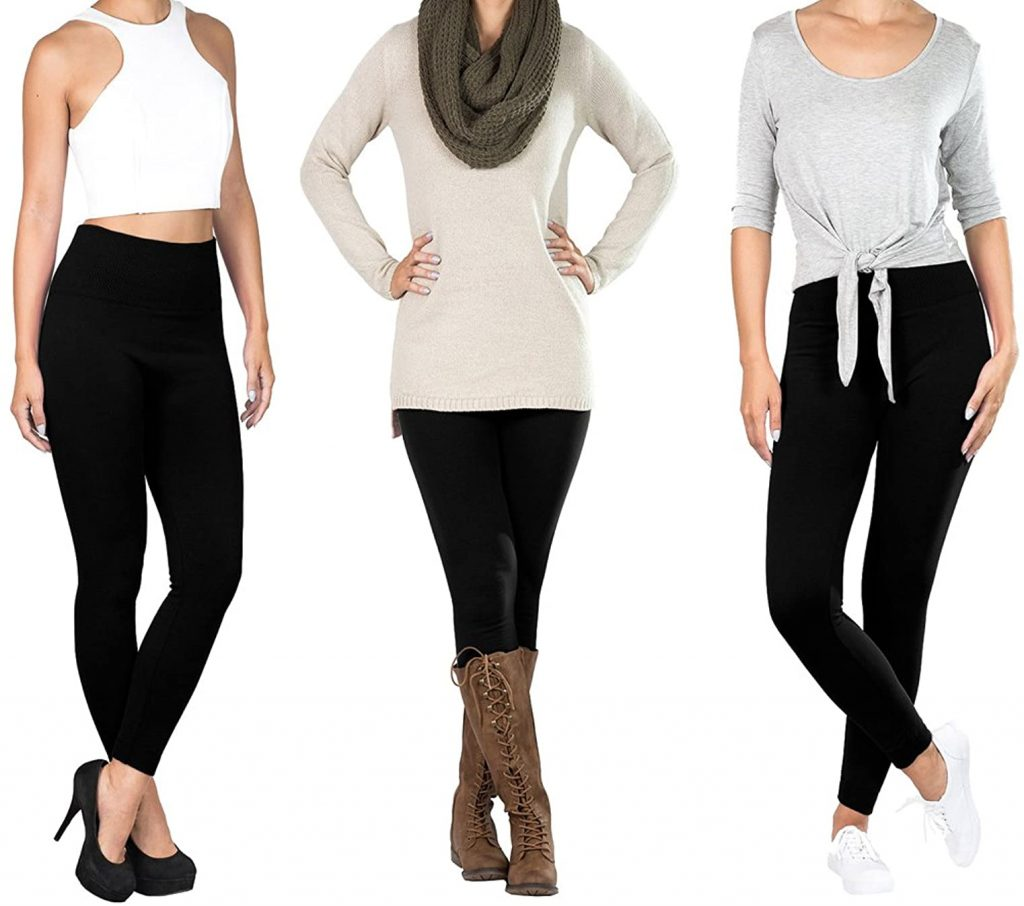 Regular/Plus Size/Petite Women's Fleece Lined Leggings