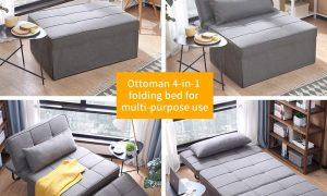 Diophros Folding Ottoman Sofa Bed