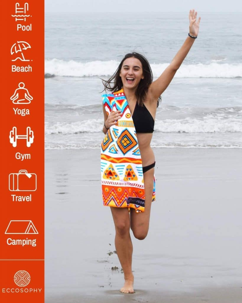 ECCOSOPHY Microfiber Beach Towel
