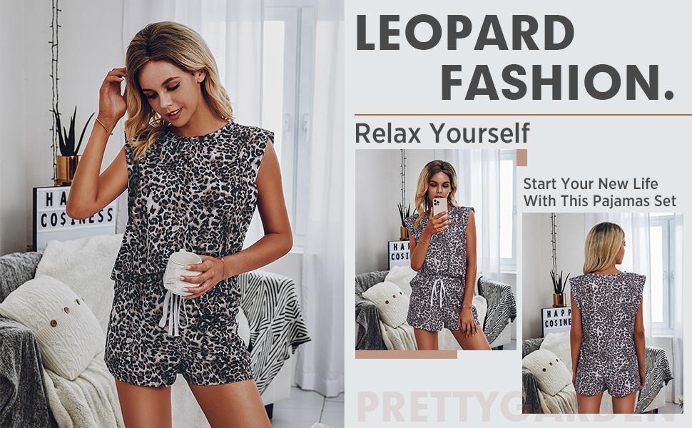 Women's Leopard Print Pajamas
